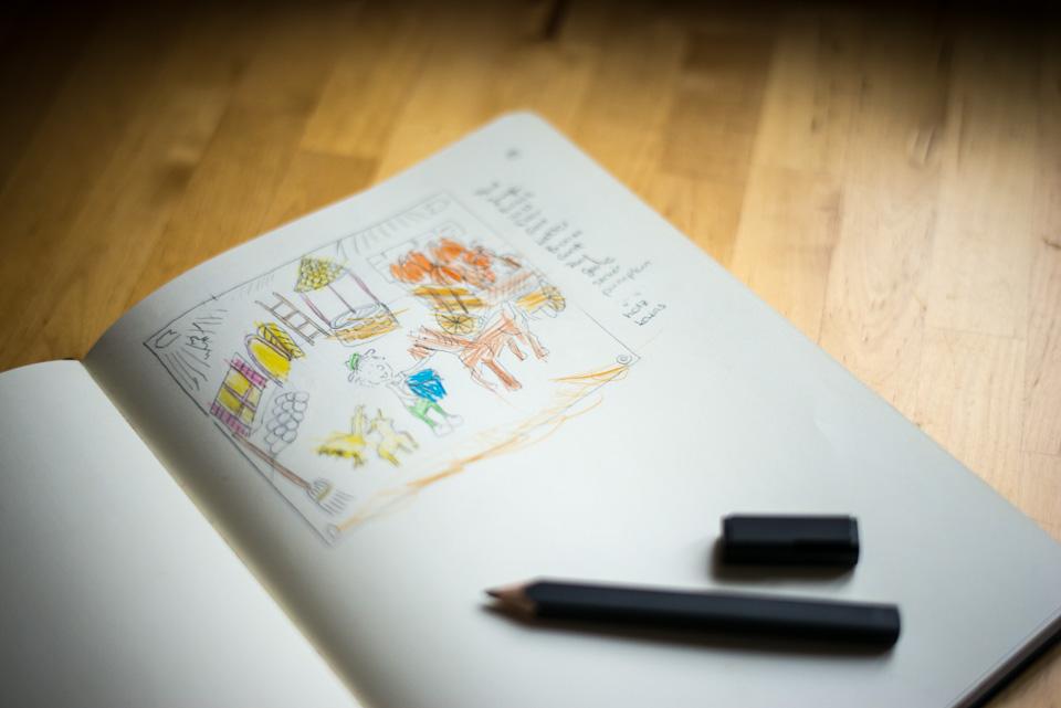 Skizzen zur neuen App für Kinder